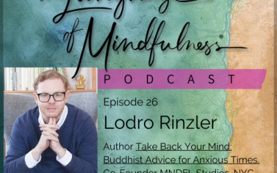 26 – A Conversation with Lordro Rinzler – author of Take Back Your Mind: Buddhist Advice for Anxious Times